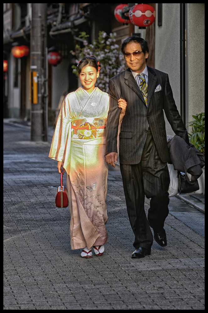 Japon  Geisha et son dana