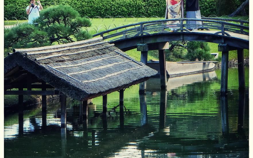 Mariés sur un pont Okayama