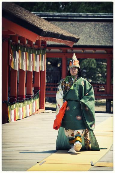 Ile Miyajima - Prêtre shinto