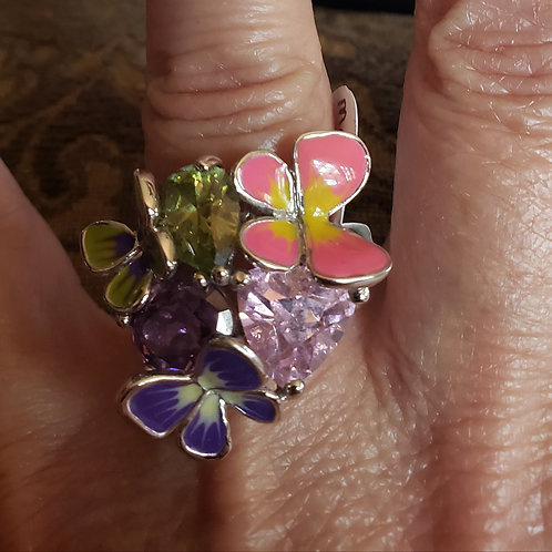 Art Deco Butterfly Gem Ring