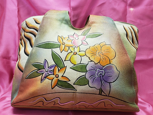 Great American Leather Hand Painted Purse