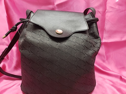 Movado Black Signature and Leather Purse