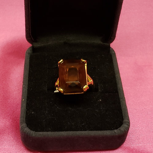 Brown Topez 18kge Ring