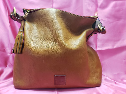 Dooney and Bourke Brown Pebble Leather slough Bag