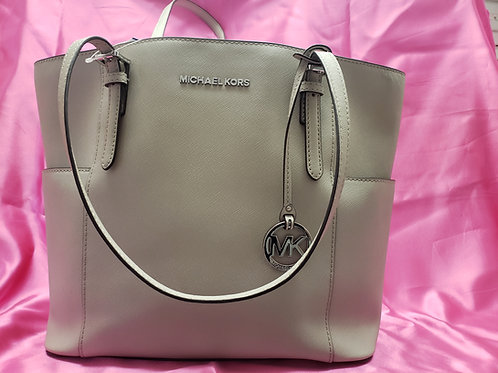 Michael Kors Grey Saffiano Leather Tote