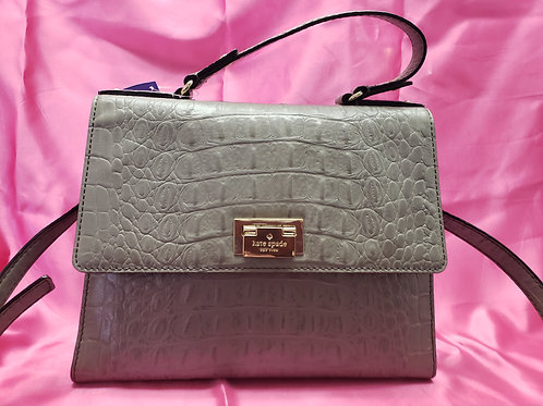 Kate Spade Grey Croc Leather Purse
