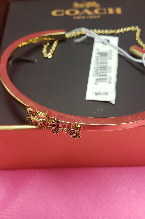 New Coach Gold Signature Bracelet