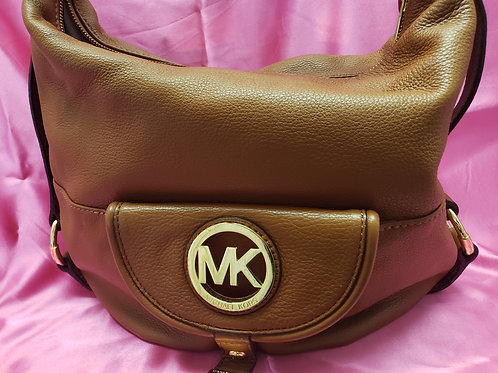Michael Kors Brown Pebble Leather Satchel