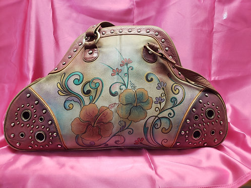 Anushka Hand Painted Leather Purse