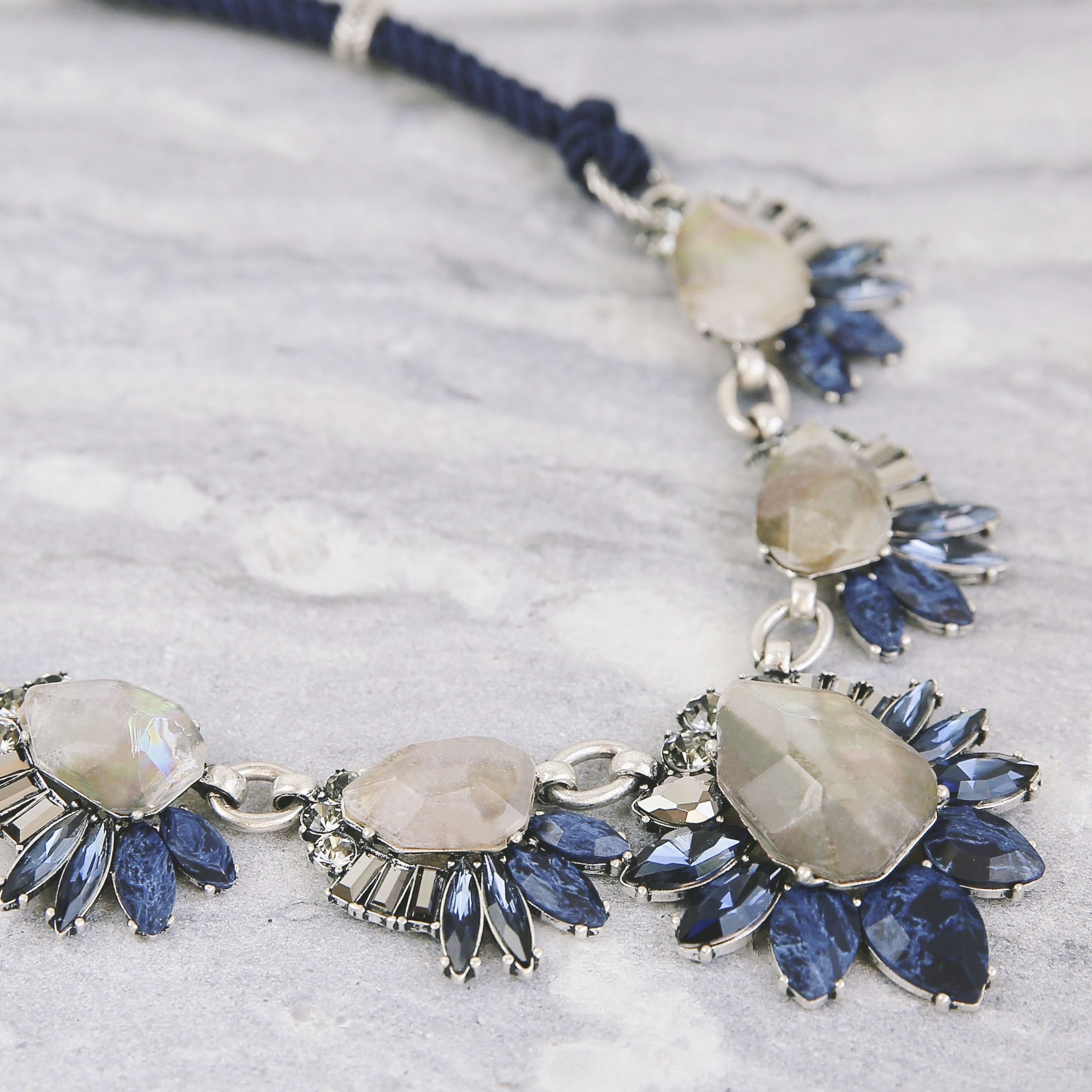 Blue and Ice Necklace