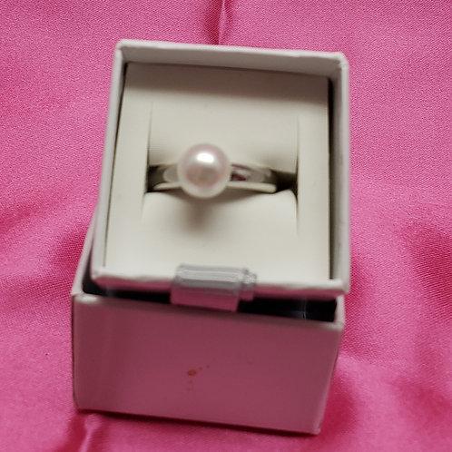 Ti Sento Sterling Silver Genuine Pearl Ring
