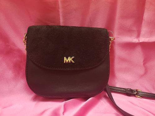 Michael Kors Black Leather & Suede Crossbody