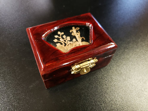 Red Box with Cork Inlay