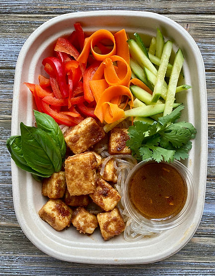 Meal Prep- Crispy Tofu Noodle Bowl