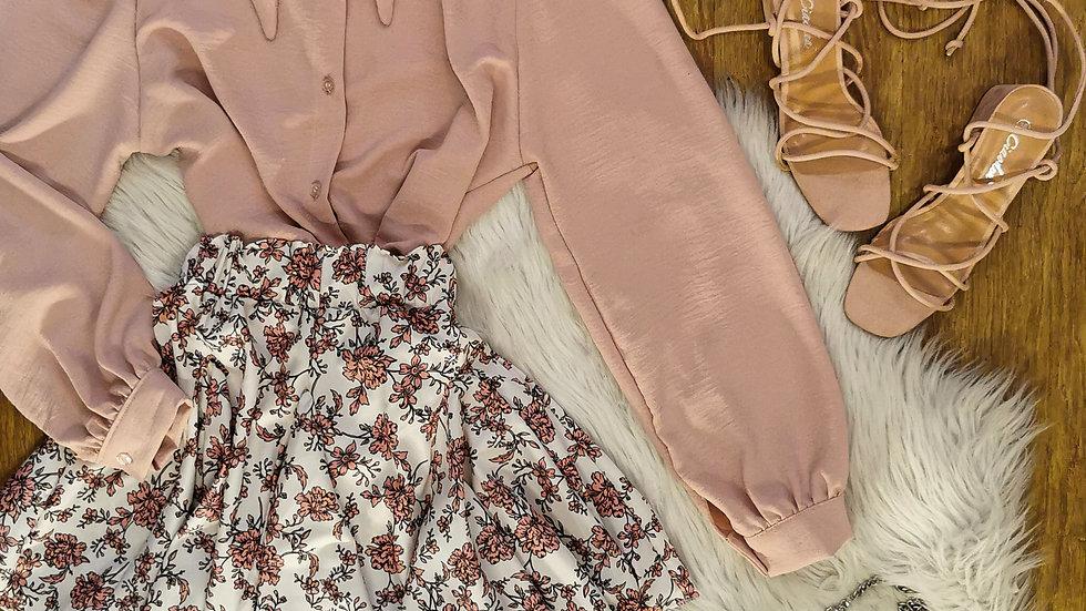 Camicia Rosy bottoni normali