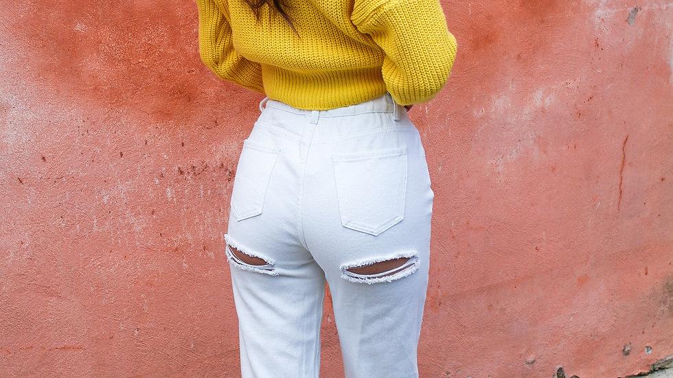 Jeans strappi sedere