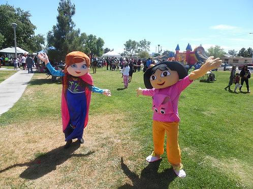 ABC's Mascot Dora or Elsa Theme Character