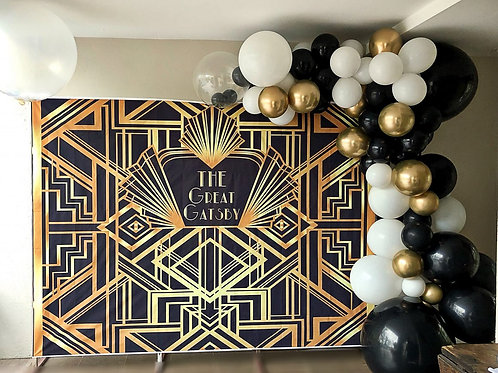 Roaring 20's Backdrop & Balloon Deco Pkg.