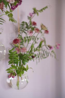 Vegg med blomster