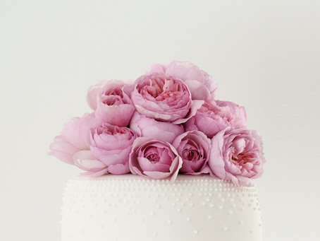 Cakes Decorated with Fresh Flowers