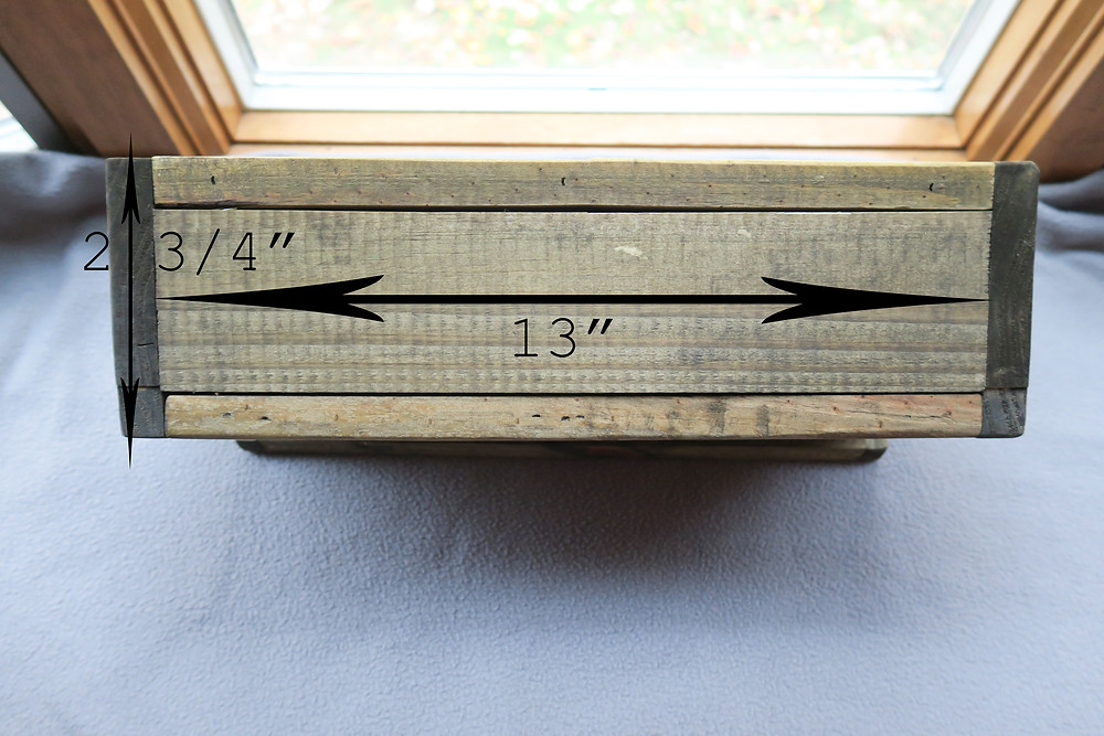 Measurements for the bottom of the mailbox