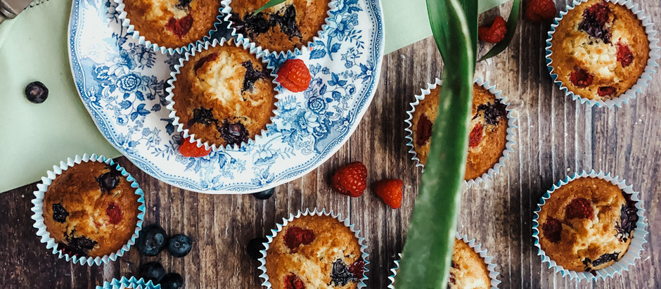 Muffins Cocco e frutti di bosco