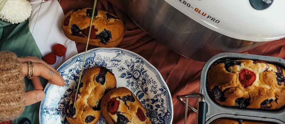 Mini Plumcakes ai frutti di bosco con Imetec Zero-Glu Pro