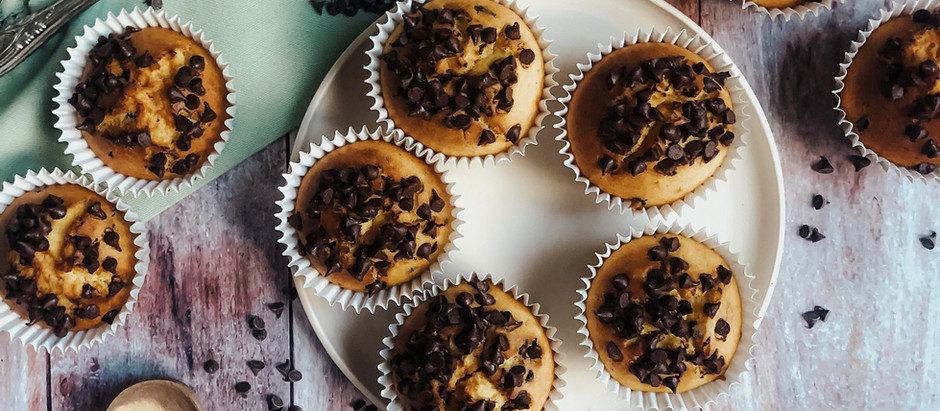 Muffins con zucca e gocce di cioccolato