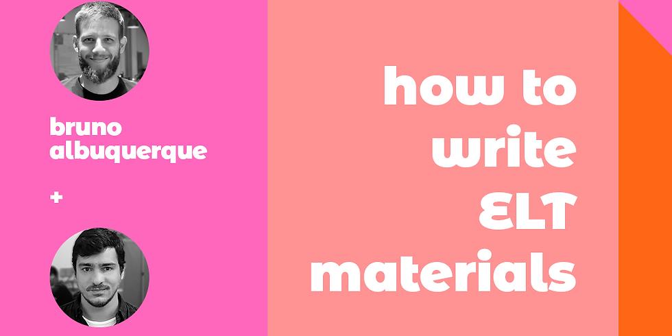 How to write ELT materials
