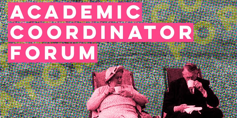 Academic Coordinator Forum