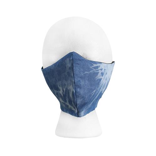 Tie dye bleach denim mask