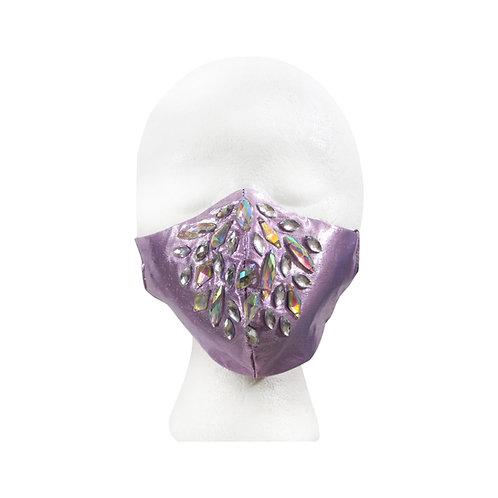 Metallic Pink Rhinestone Mask