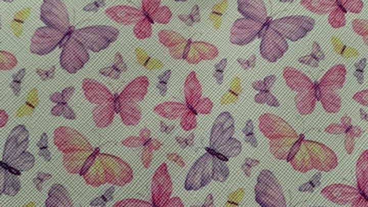 Butterfly faux leather sheet 32x30cm approx