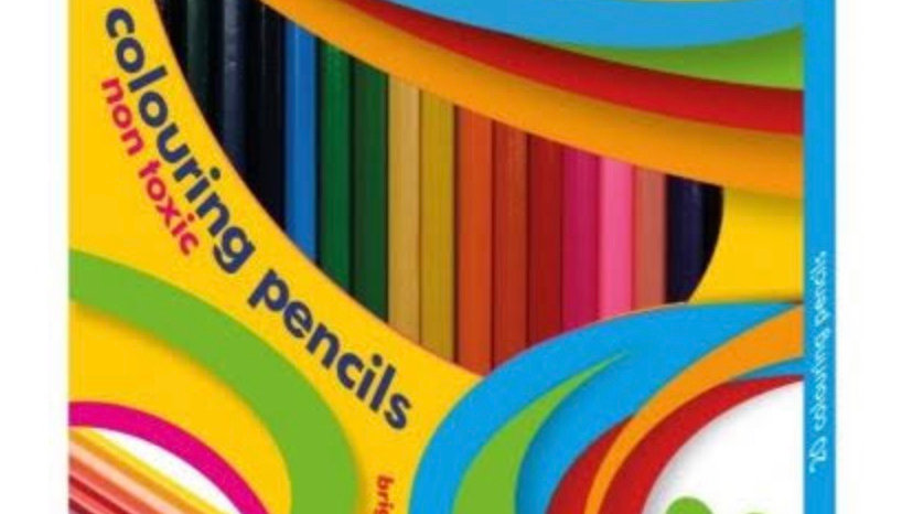 Assorted colouring pencils pack of 20 by cre8