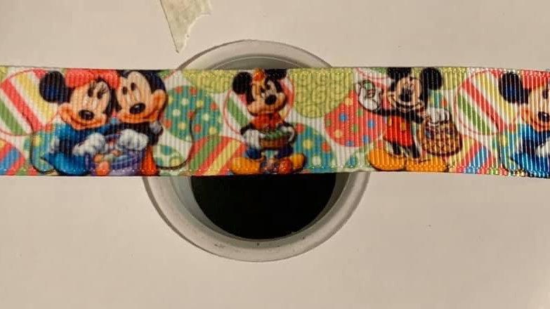 Mickey/Minnie Easter 22mm grosgrain ribbon per meter