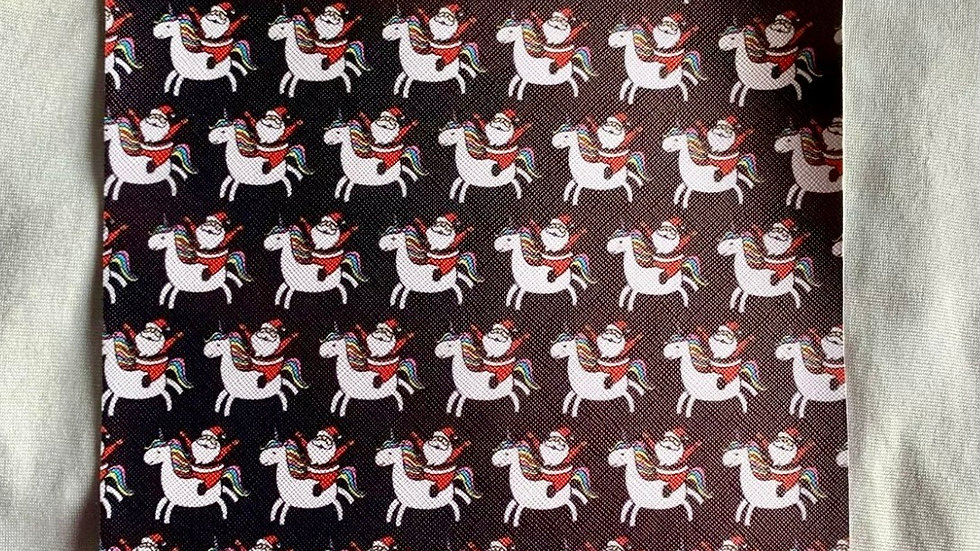 Various Christmas printed faux leather approx 20x34cm each