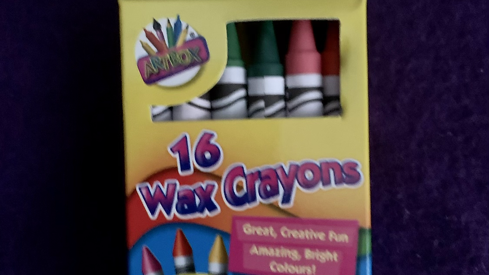 Box of 16 crayons- assorted colours