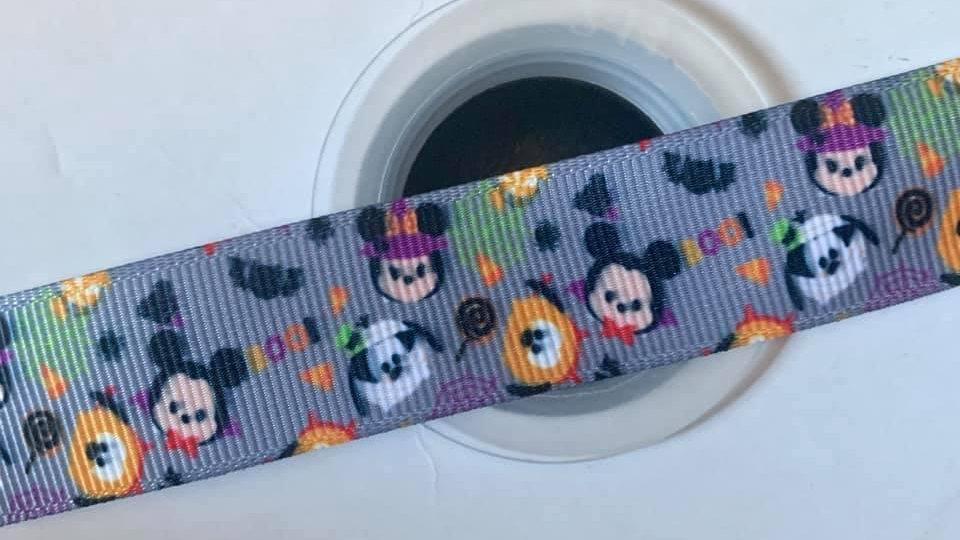 Mickey & friends halloween 22mm grosgrain ribbon per meter