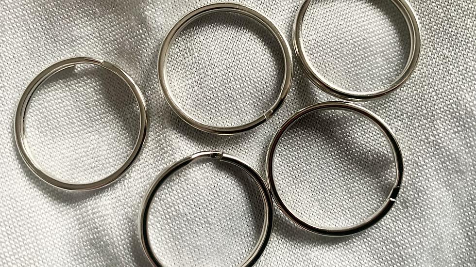 5 pcs 25mm round key rings