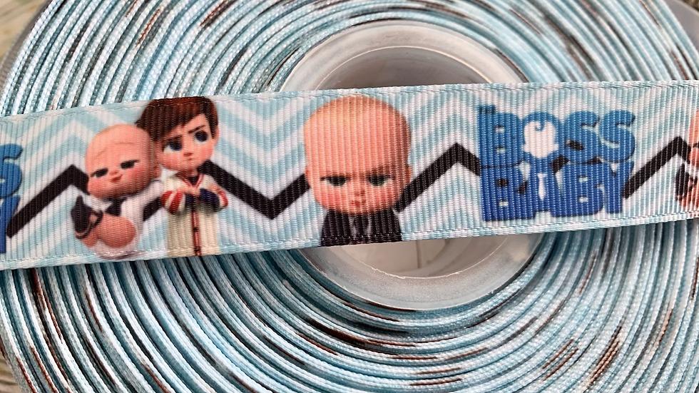 Boss baby 22mm grosgrain ribbon per meter