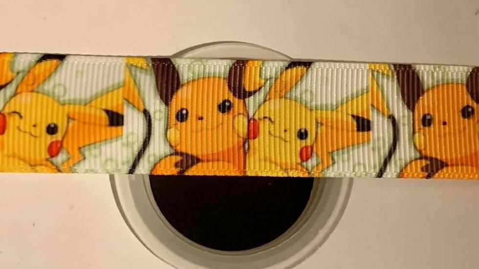 Pokemon 22mm grosgrain ribbon by meter