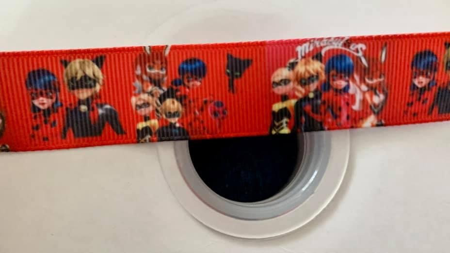 Ladybug & friends 22mm grosgrain ribbon per meter