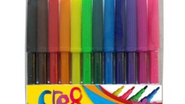 12 pack felt tip pens by cre8