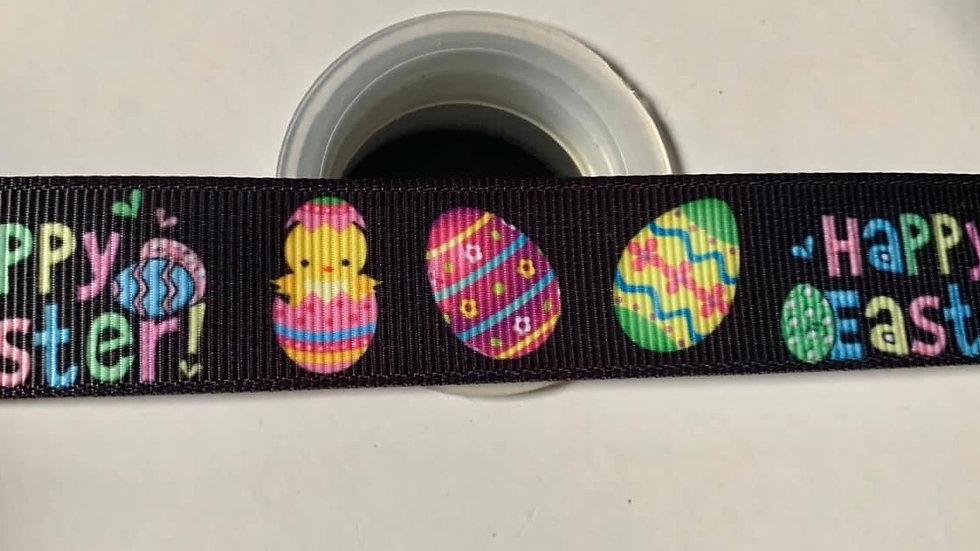Happy Easter ribbon 22mm per meter