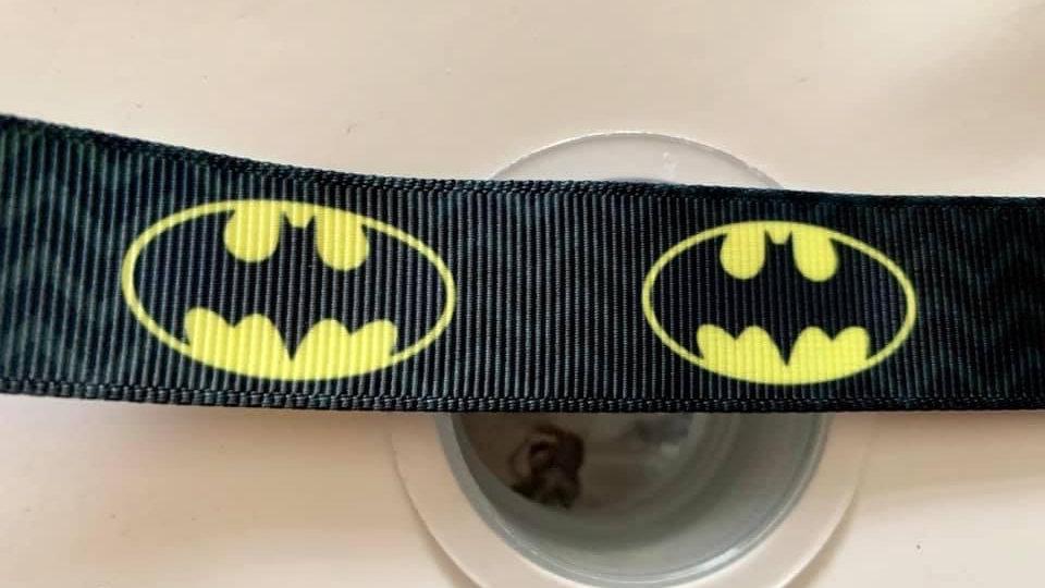 Batman logo 22mm grosgrain ribbon per meter