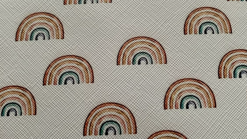 Rainbows 22x30cm approx faux leather sheets