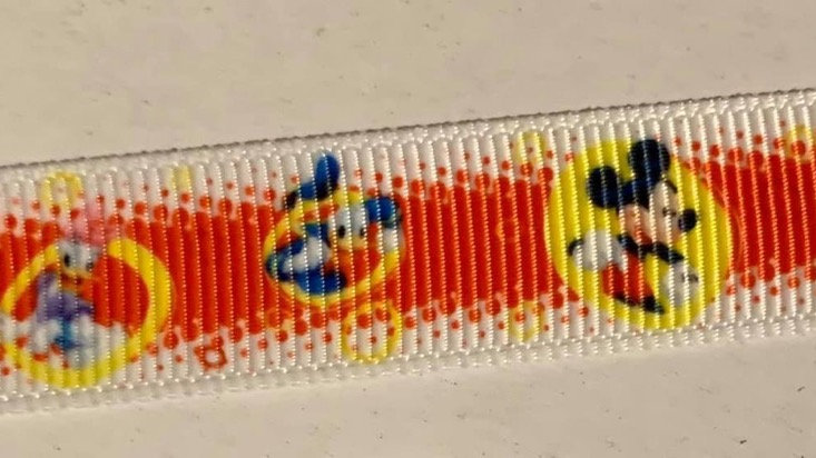 Mickey & friends 16mm grosgrain ribbon per meter