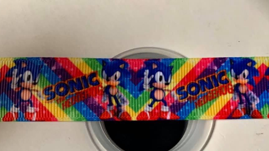 Sonic grosgrain ribbon 22mm sold by meter