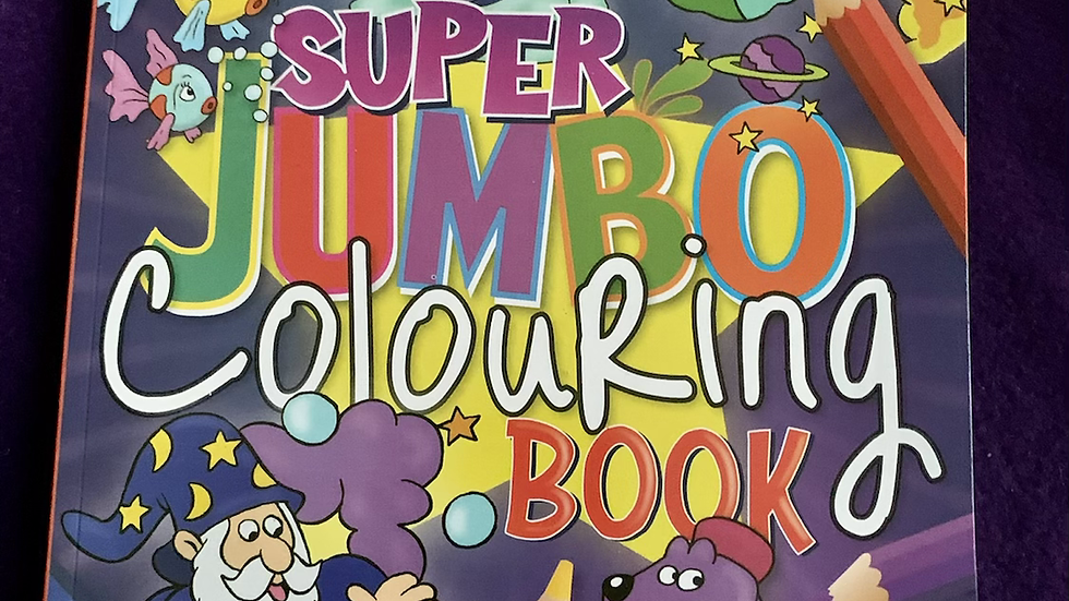 Super Jumbo colouring book A4 size