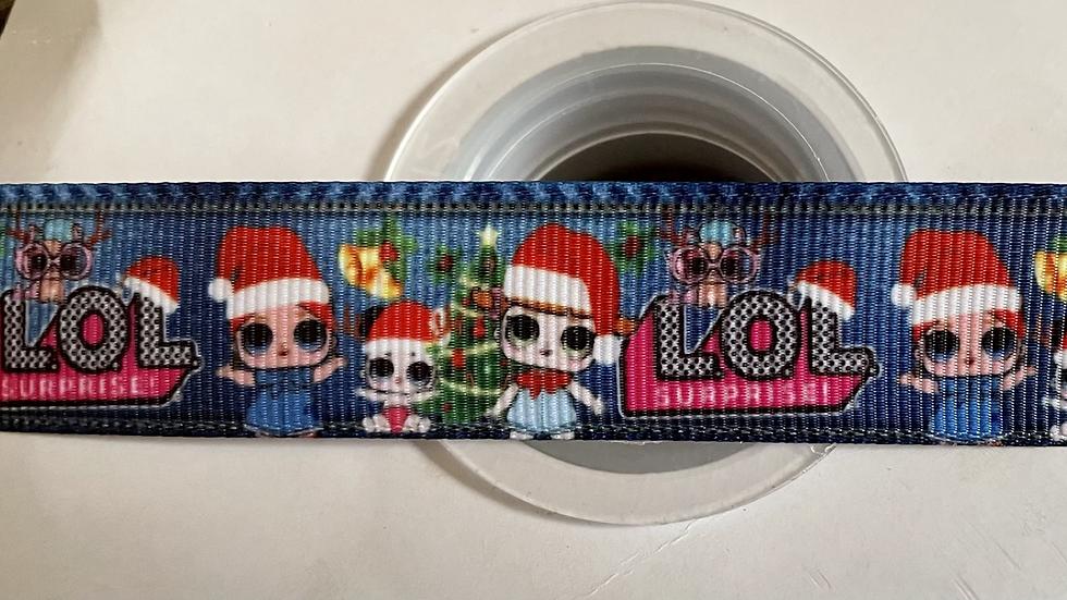 Christmas 22mm grosgrain ribbon per meter